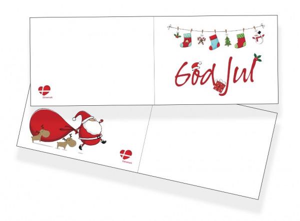 Weihnachtskarten-Set Weiß
