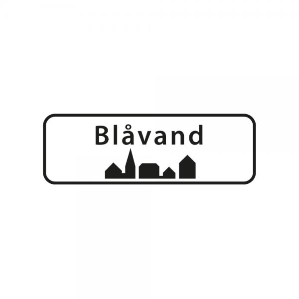 Aufkleber Ortsschild Blåvand