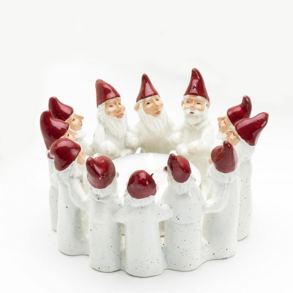 Harvesttime Weihnachtsmann Teelichtring medium Weiß