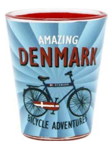 Memories of Denmark Schnapsglas Amazing Denmark