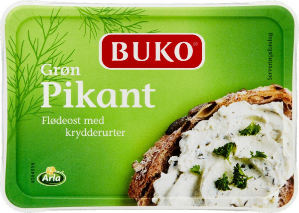 Buko Flødeost pikant grøn