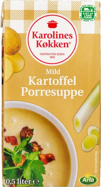 Karolines Køkken Milde Kartoffel Porresuppe