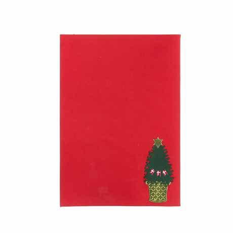 Weihnachtspostkarte Baum mit Stern