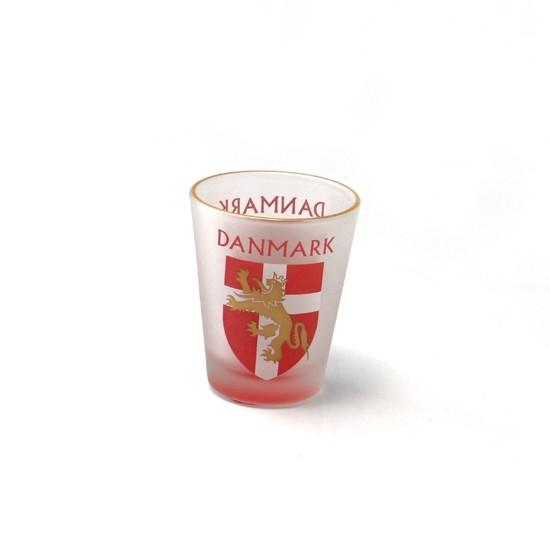 Memories of Denmark Schnapsglas Wappen Löwe