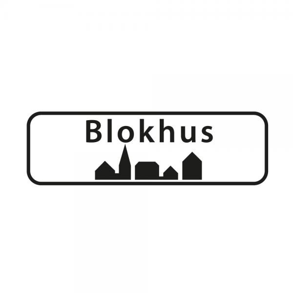 Aufkleber Ortsschild Blokhus
