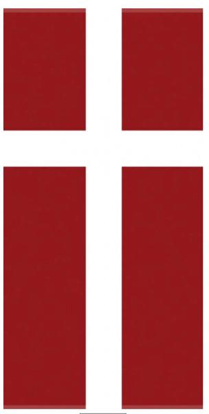 Badehandtuch Dänemarkflagge