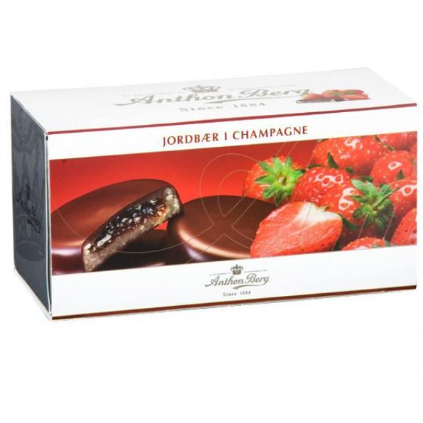Anthon Berg Erdbeere in Champagner
