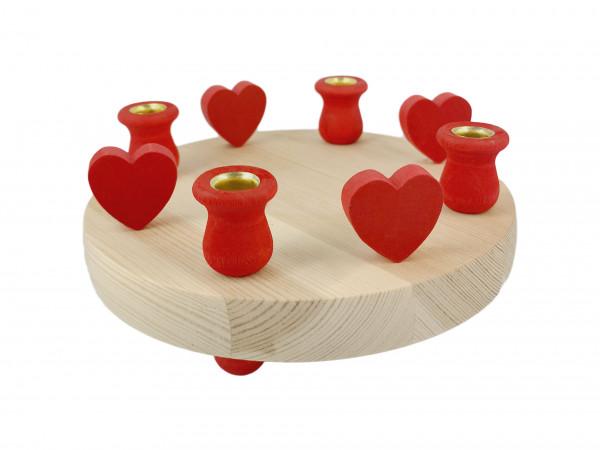 Sebastian Design Kerzenlplatte mit Herzen