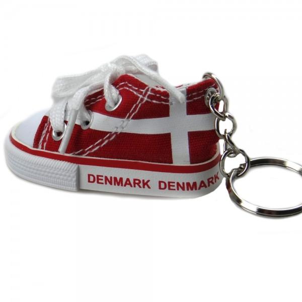 Memories of Denmark Schlüsselanhänger Schuh Rot
