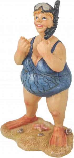 Dänische Sommerdame mit Fäusten Keramikmodell