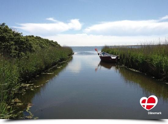 "Postkarte ""Ruderboot in Hvide Sande"""