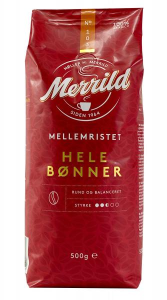 Merrild Mellemristet 103 Kaffeebohnen