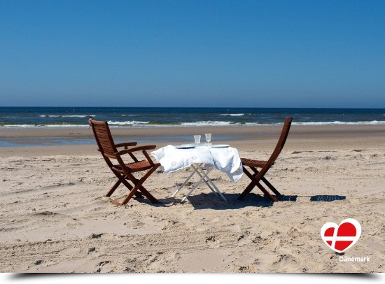 "Postkarte ""Dinner for two an der Nordsee"""
