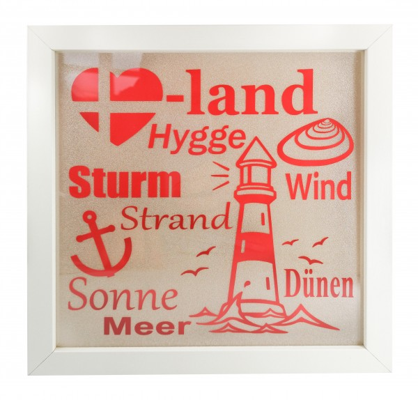 Lichtbilderrahmen Herzensland Dänemark