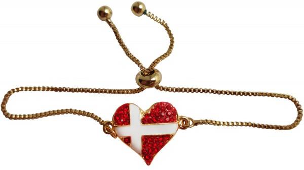 Armband Hjerteflag