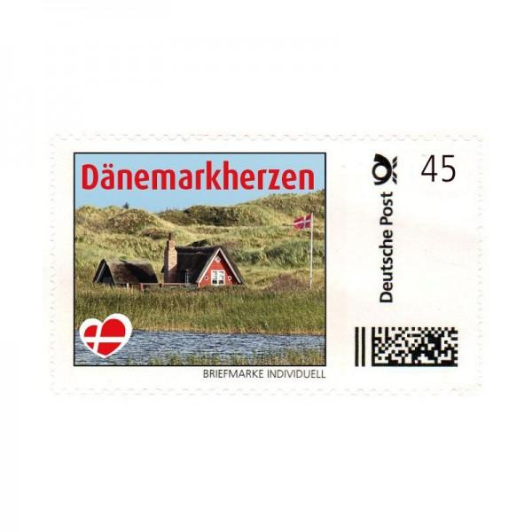 Briefmarke Dänemarkherzen
