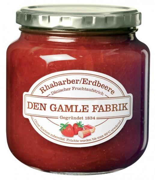 Den Gamle Fabrik Marmelade Rhabarber & Erdbeere 600g