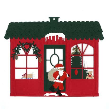 Weihnachshaus mit Weihnachtsmann