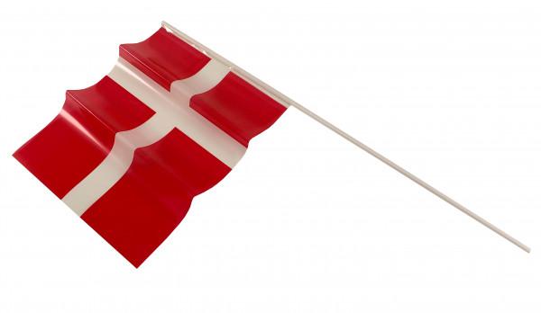 Dannebrog Fahne 8 Stück auf langem Plastikstab