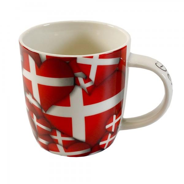 Tasse mit Flaggenmuster