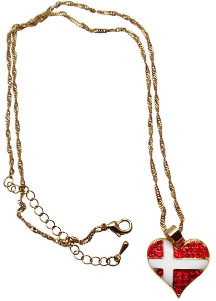 Halskette Hjerteflag