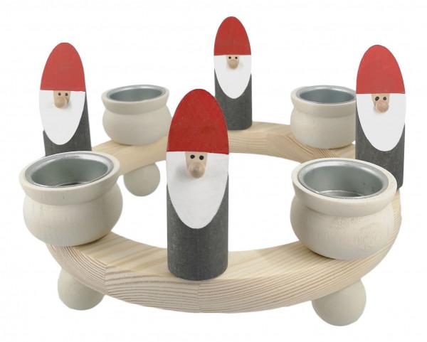 Sebastian Design Großer Teelichtring mit Holzwichteln