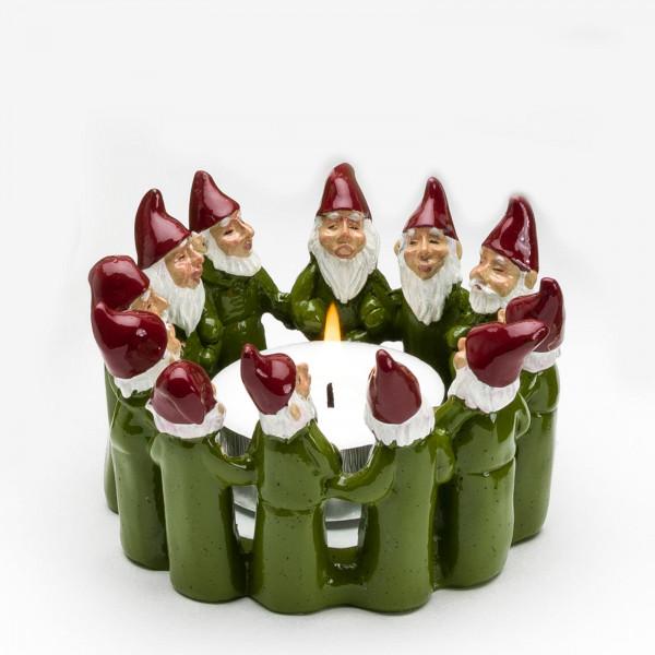 Harvesttime Weihnachtsmann Teelichtring medium Grün