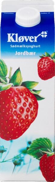 Kløver Jogurt Erdbeere