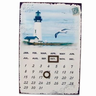 Maritimer Blechkalender