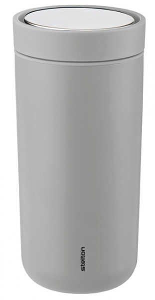 Stelton To Go Click 0,4l Thermobecher hellgrau