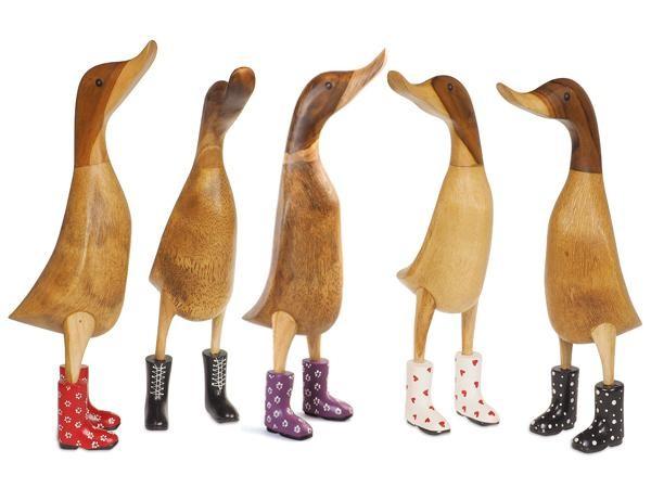 edo by dcuk Entenfigur aus Holz groß