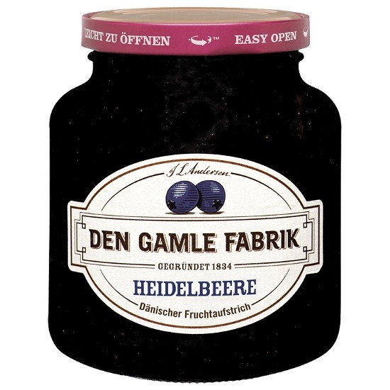 Den Gamle Fabrik Marmelade Heidelbeere/Blaubeere 380g