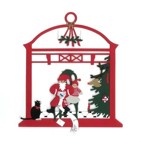 Weihnachtsbaum mit Weihnachtsmann