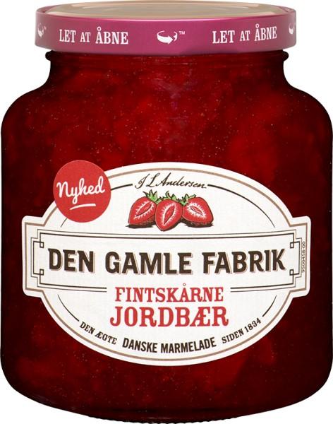 Den Gamle Fabrik Marmelade Erdbeere mit feinen Stücken 380g