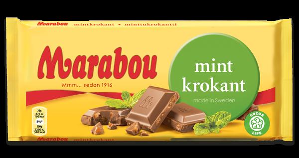 Marabou Mint Krokant Schokolade