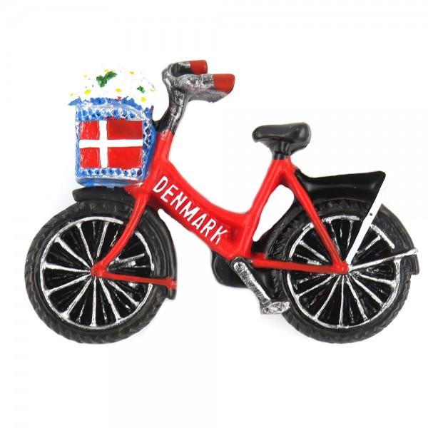 Memories of Denmark Magnet Dänisches Fahrrad