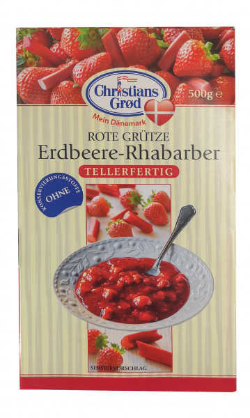 """Christians Grød Rote Grütze """"Erdbeere Rhabarber"""""""