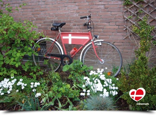 "Postkarte ""Fahrrad Det lille Hus"""