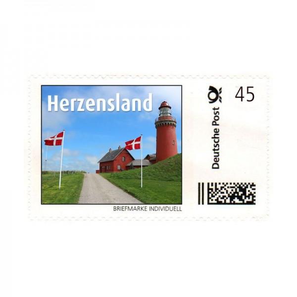 Briefmarke Herzensland