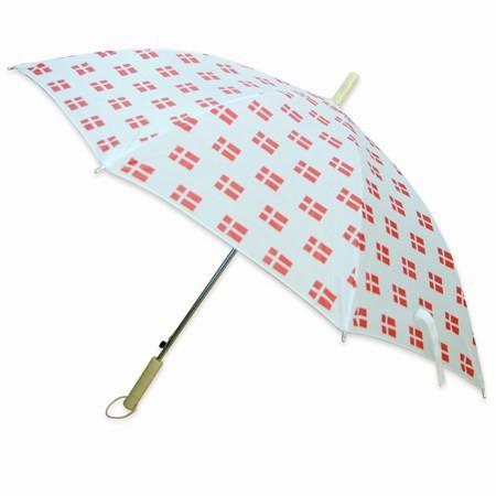 Regenschirm mit Holzgriff Dannebrog