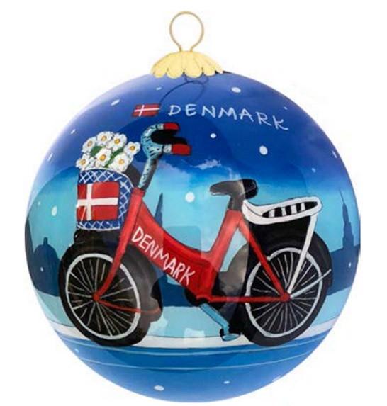 """Memories of Denmark Weihnachtsbaumkugel """"Cykel"""""""